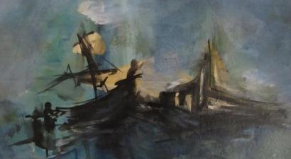Sinking – Acrylic Painting